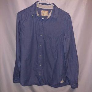Victoria's Secret Chambray Shirt 100% Cotton sz Sm
